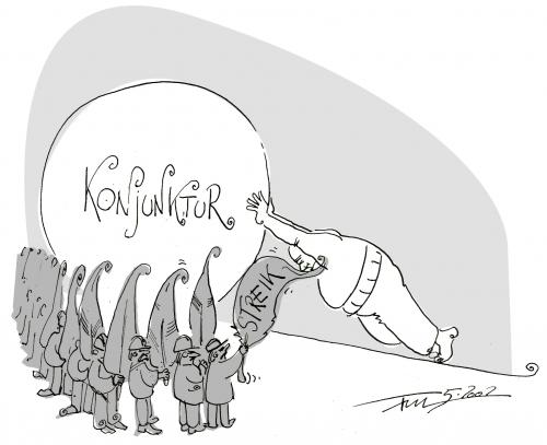 Cartoon: Das ärgert die Konjunktur (medium) by 2001 tagged strik,konjunktur,ärger,