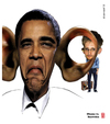Cartoon: Obama vs Snowden (small) by zenundsenf tagged andi,walter,barak,obama,cartoon,composing,karikatur,nsa,snowden,edward,wikileaks,zenf,zensenf,zenundsenf