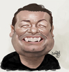 Cartoon: Ricky Gervais (small) by Darrell tagged ricky,gervais