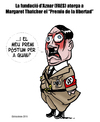 Cartoon: FAES (small) by ELCHICOTRISTE tagged aznar,thatcher,hitler