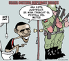 Cartoon: MILITARY DEPLOYMENT (small) by ELCHICOTRISTE tagged obama,military,deployment,war