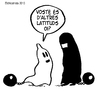 Cartoon: PARTNERS (small) by ELCHICOTRISTE tagged burka,woman,liberation