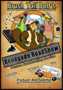 Cartoon: Brushtail Bob Radio Program (small) by Abe tagged possum,wild,poster,ad,advert,colors,ice,cream,van,fun,mic,microphone,hat,geek,nerd,hot,female,radio,program,road,renegade
