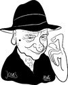 Cartoon: Jonas Mekas (small) by Martynas Juchnevicius tagged jonas,mekas,cinematography,movies,films,cameraman,16,mm,lithuanian