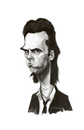 Cartoon: Nick Cave (small) by Martynas Juchnevicius tagged nick,cave,singer,caricature,painting,digital