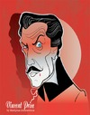 Cartoon: Vincent Price (small) by Martynas Juchnevicius tagged vincent,price,horror,actor,film,movie