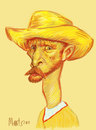 Cartoon: Vincent Van Gogh (small) by Martynas Juchnevicius tagged digital painting vincent van gogh caricature painter artist impressionism