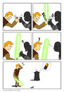 Cartoon: Neulich auf dem Todesstern (small) by painter88 tagged starwars darthvader lukeskywalker lichtschwert