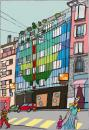 Cartoon: Une maison (small) by Albin Christen tagged maison,building,house,colors,couleurs,