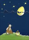 Cartoon: Moonstruck (small) by badham tagged ostern,easter,bunny,osterhase,animal,animals,hase,badham