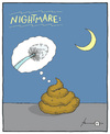 Cartoon: Nightmare (small) by badham tagged albtraum nightmare scheiße shit scheisse poop badham