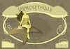 Cartoon: Immortalis (small) by DrCoragre tagged art,nouveau,modernisme,cartell,fantasy,illustration,drawing,mixed,media,comic,naturei