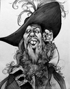Cartoon: Mikey_Barbossa09_01 (small) by mikeyzart tagged barbossa jack potc pirates caribbean caricature cartoon marker