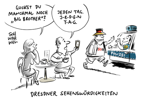 Pegida Demo Journalismus