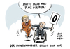 Cartoon: Haushaltsdebatte im Bundestag (small) by Schwarwel tagged haushaltsdebatte,haushalt,politik,regierung,schwarze,null,merkel,cdu,bundestag,finanzen,finanzminister,etat,etatentwurf,karikatur,schwarwel