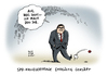 Cartoon: Kanzlerfrage Gabriel (small) by Schwarwel tagged kanzlerfrage,kanzler,spd,chef,sigmar,gabriel,urwahl,kanzlerkandidatur,kandidatur,karikatur,schwarwel,merkel