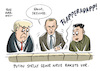 Cartoon: Trump Putin Kim Jong Un (small) by Schwarwel tagged trump,putin,us,usa,russland,kim,jong,un,atomknopf,atomwaffen,nordkorea,korea,atomkrieg,atomar,krieg,waffen,gewalt,diktator,diktatur,machthaber,politik,politiker,atomwaffe,nuklear,waffenarsenal,amerika,america,sicherheit,atomprogramm,atomtest,raketentest,rakete,raketen,pjöngjang,militär,ausland,krisen,konflikte,krise,konflikt,südkorea,karikatur,schwarwel,wahl,cartoon