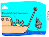 Cartoon: wireless network (small) by roy friedler tagged fishing,wireless,network