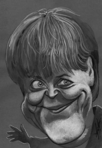 Cartoon: DI-version (medium) by KARKA tagged merkel