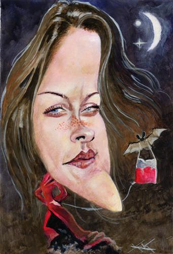 Cartoon: Kristen Stewart caricature (medium) by KARKA tagged kristen,stewart