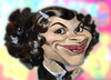 Cartoon: Audrey Tautou caricature (small) by KARKA tagged audrey tautou amelie