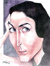 Cartoon: Carrie Anne Moss (small) by KARKA tagged carrie,anne,moss,trinity,matrix