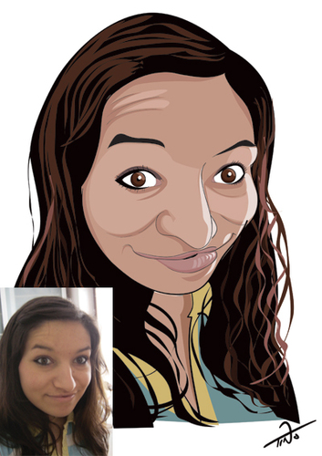 Cartoon: caricature 2 (medium) by tinotoons tagged caricature,woman,smile