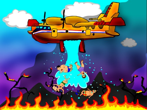 Cartoon: fire (medium) by undertoon tagged fire,undertoon