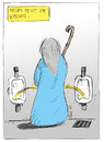 Cartoon: Moses teilt das Wasser (small) by bob tagged moses gott bibel at altes testament klo pissoir bob
