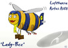 Cartoon: Airbus A380 Contest (small) by toonpool com tagged lufthansa airbus380 airbus plane flugzeug contes