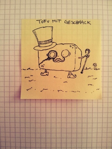 Cartoon: Tofu mit Geschmack (medium) by Post its of death tagged tofu