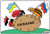 Cartoon: Colorado beetles and larvae (small) by Igor Kolgarev tagged ukraine,war,beetles,russia