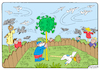 Cartoon: COVID-19 (small) by Igor Kolgarev tagged virus,pandemic,quarantine,disease,insulation,death,protection,medicine,garden