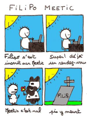 Cartoon: Filipo Meetic (medium) by lpedrocchi tagged humour,filipo,meetic,