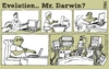 Cartoon: evolution (small) by raim tagged evolution,darwin,raim,cartoon