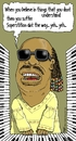 Cartoon: wonder (small) by raim tagged stevie,wonder,superstition