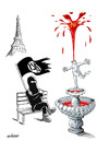 Cartoon: Deadly Paris terror attacks (small) by Ali Miraee tagged deadly,paris,terror,attacks,ali,miraee,miraie,mirayi,isis,daesh