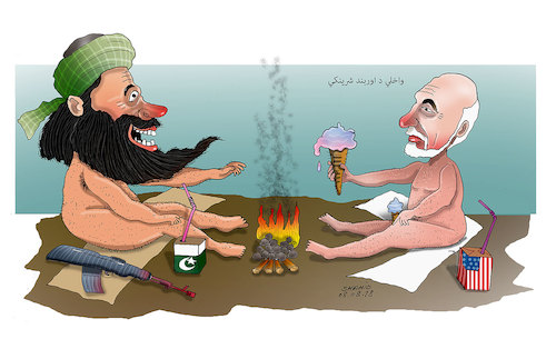 Cartoon: Peace talks ! (medium) by Afghancartoon tagged afghanistan,balkh,helmand,kabul,london,nangarhar,attack