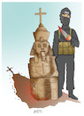 Cartoon: Egypt terror attack ! (small) by Shahid Atiq tagged afghanistan,helmand,kabul,attacks