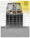 Cartoon: Free Turkey Media ! (small) by Afghancartoon tagged jounalism,is,not,crime