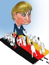 Cartoon: Merkel and Black Refugee ! (small) by Afghancartoon tagged afghanistan,kabul,syria,iran,switzerland,schweiz,usa,france,football,safi,cartooneu,uk,safe,atiq,fara,shahid,nice