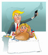 Cartoon: THANKSGIVING  Selfi ! (small) by Shahid Atiq tagged trump,afghanistan,safi,shahid,bahar,ieba,rayian