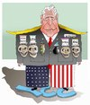 Cartoon: War Criminal ! (small) by Shahid Atiq tagged trump,afghanistan,safi,shahid,bahar,ieba,rayian,castro,cuba