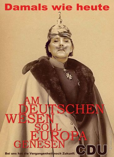 Cartoon: Am deutschen Wesen (medium) by heschmand tagged kaiserwilhelm,deutscherimperialismus,europa,cdu,merkel