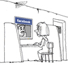 Cartoon: the rendezvous (small) by gonopolsky tagged communication