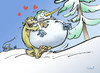 Cartoon: Yetina (small) by llobet tagged yetina yeti snowman winter