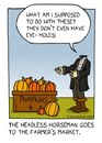 Cartoon: headless horseman (small) by sardonic salad tagged headless,horseman,cartoon,comic,ichabod,crane,humor