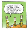 Cartoon: Pencils (small) by sardonic salad tagged number,pencils,cartoon,comic,sardonic,salad,school,test