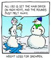 Cartoon: weight loss for snowmen (small) by sardonic salad tagged snowman,weight,loss