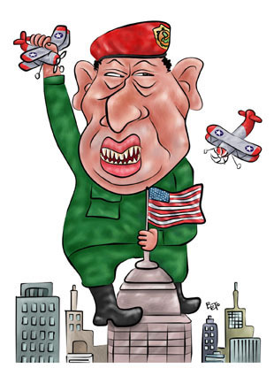 Cartoon: Hugo Chavez (medium) by beto cartuns tagged chavez,venezuela,autoritarism